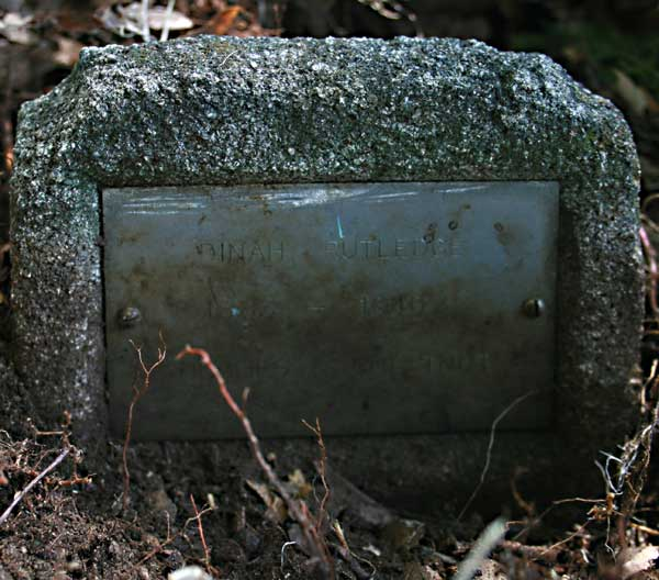 Dinah Rutledge Gravestone Photo