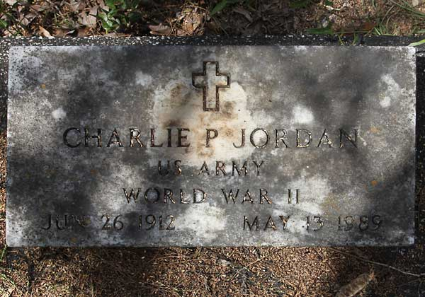 Charlie P. Jordan Gravestone Photo