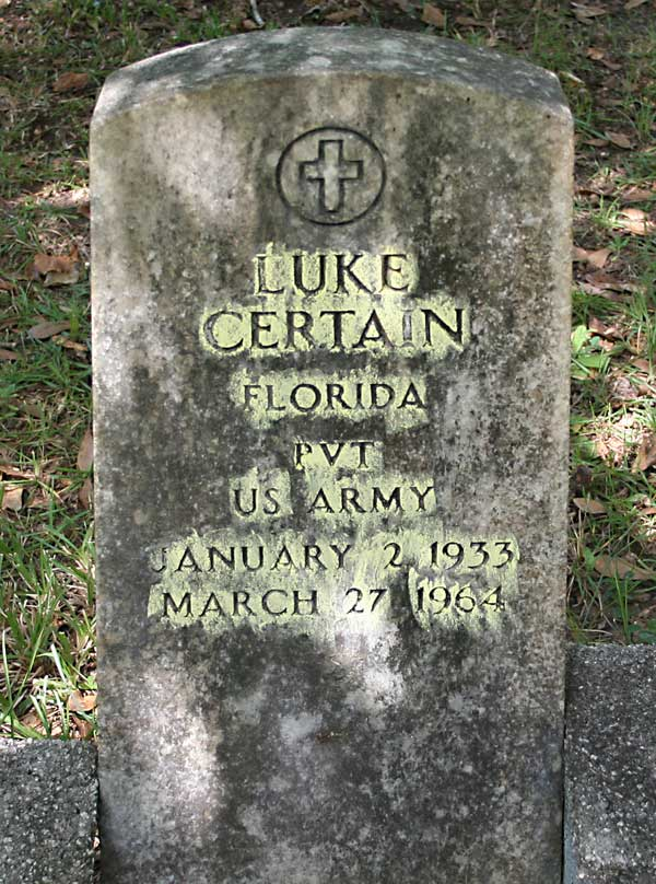 Luke Certain Gravestone Photo