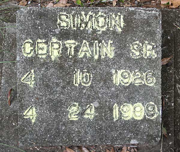 Simon Certain Gravestone Photo
