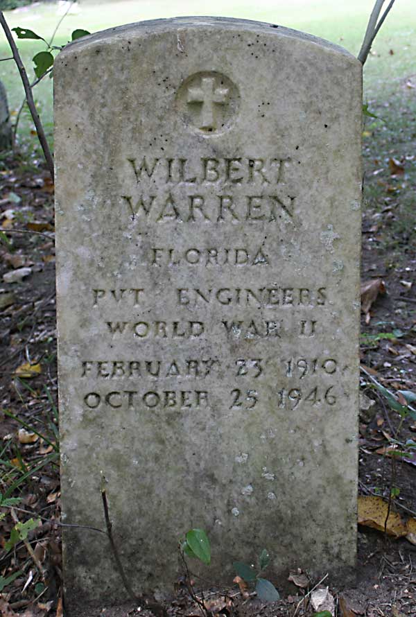 Wilbert Warren Gravestone Photo