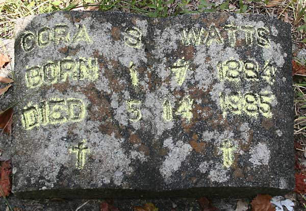 Cora S. Watts Gravestone Photo