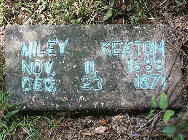 Miley Keaton Gravestone Photo