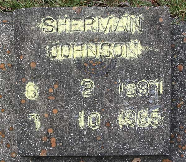 Sherman Johnson Gravestone Photo