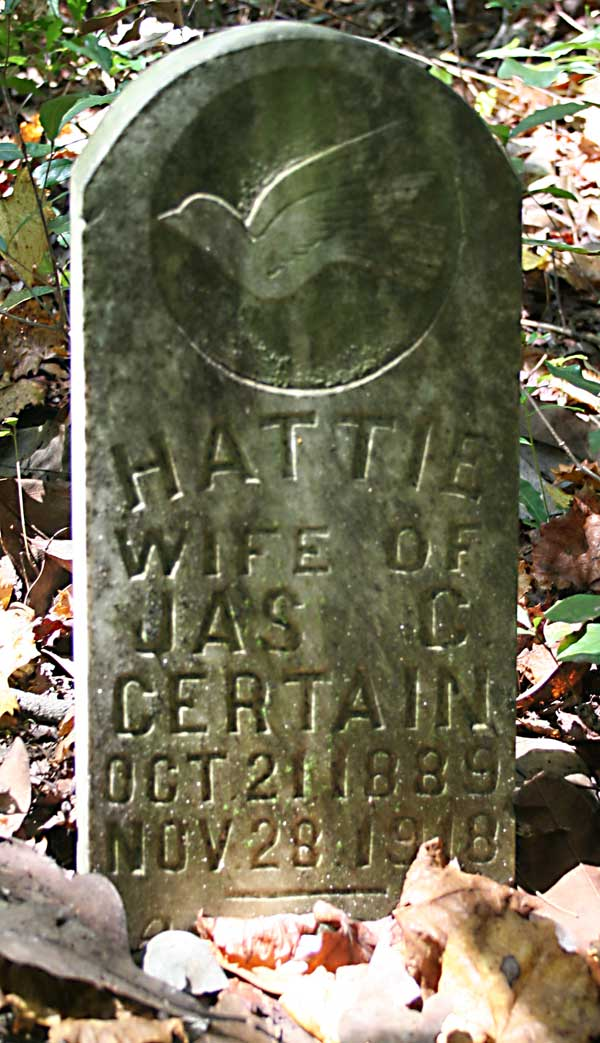 Hattie Certain Gravestone Photo