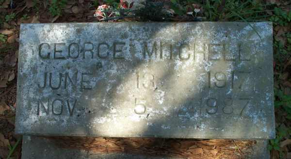 George Mitchell Gravestone Photo