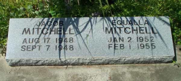 Jacob & Equalla Mitchell Gravestone Photo