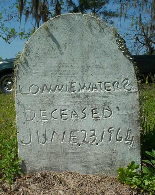 Lonnie Waters Gravestone Photo