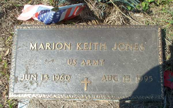 Marion Keith Jones Gravestone Photo