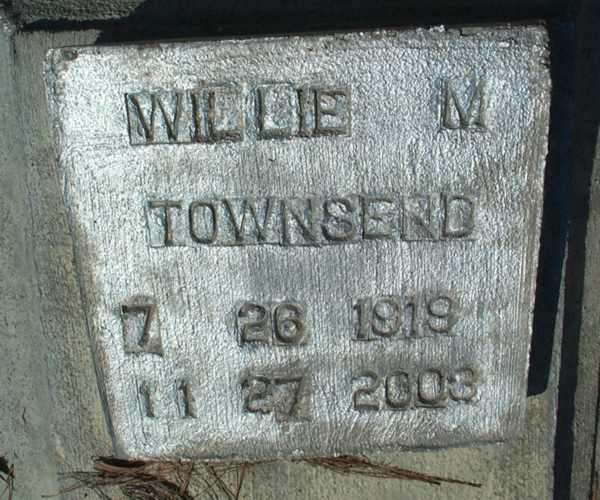 Willie M. Townsend Gravestone Photo