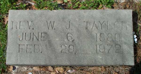 W.J. (Rev.) Taylor Gravestone Photo