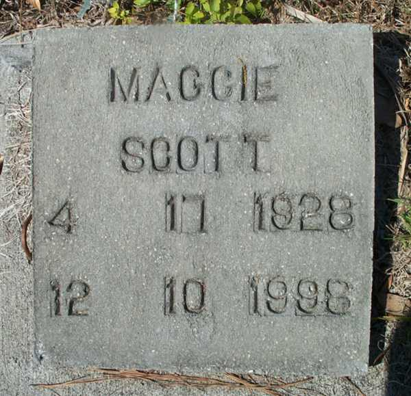 Maggie Scott Gravestone Photo