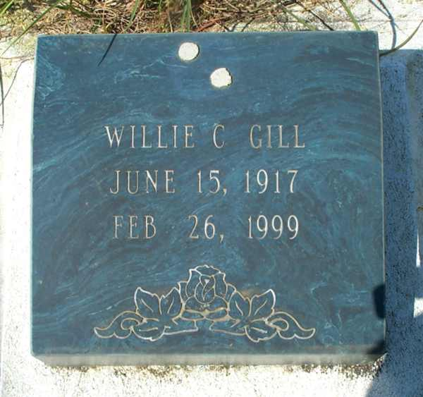 Wilie C. Gill Gravestone Photo