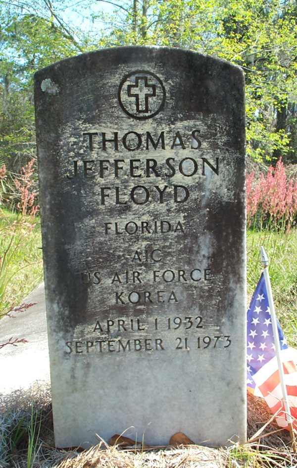 Thomas Jefferson Floyd Gravestone Photo