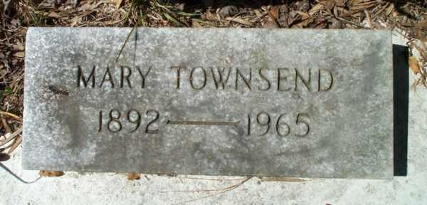 Mary Townsend Gravestone Photo