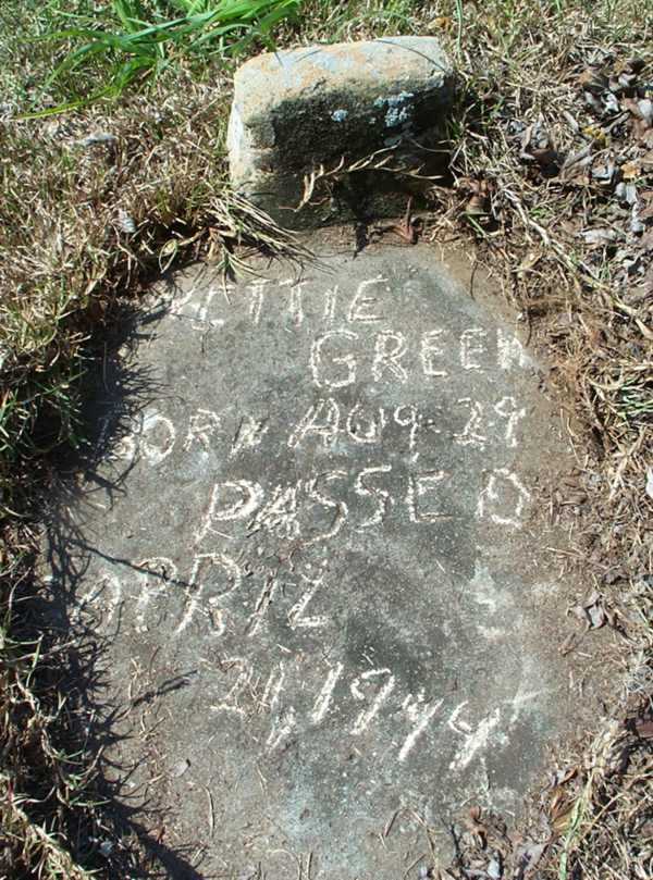 Nettie Green Gravestone Photo