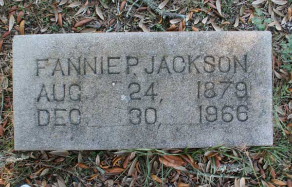 Fannie P. Jackson Gravestone Photo