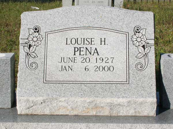 Louise H. Pena Gravestone Photo