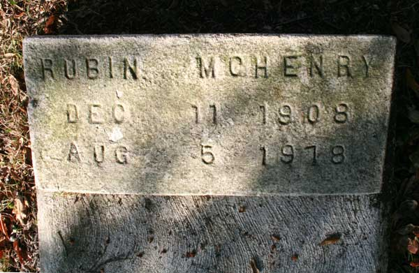 Rubin McHenry Gravestone Photo