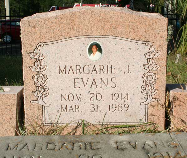 Margarie J. Evans Gravestone Photo