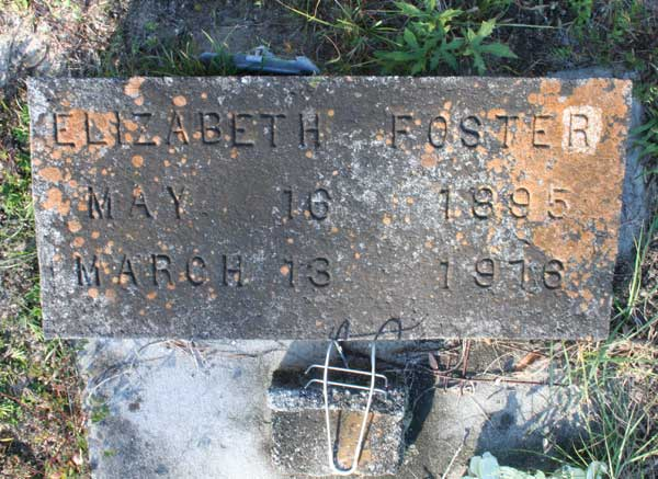 Elizabeth Foster Gravestone Photo