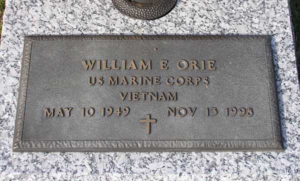 William E. Orie Gravestone Photo