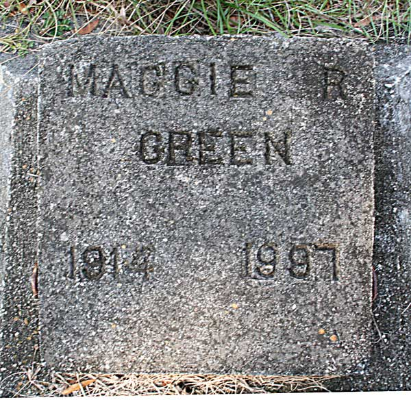 Maggie R. Green Gravestone Photo