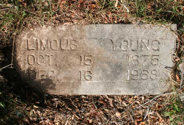 Limous Young Gravestone Photo