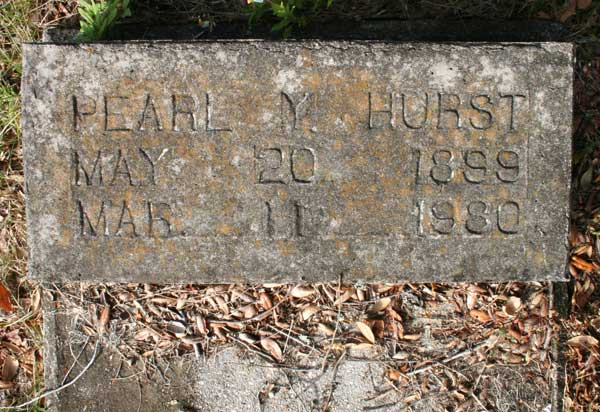 Pearl Y. Hurst Gravestone Photo