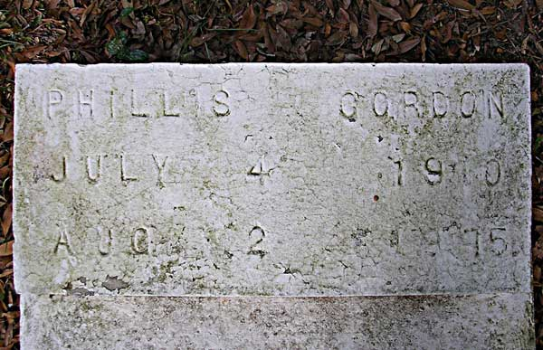Phillis Gordon Gravestone Photo