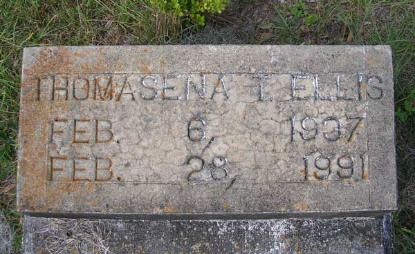Thomasena T. Ellis Gravestone Photo