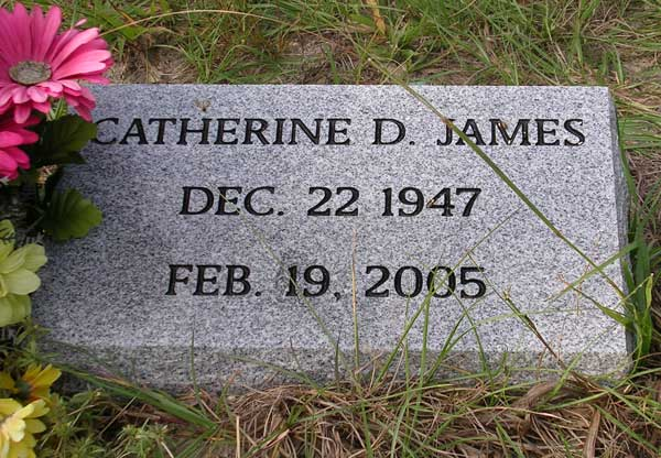 Catherine D. James Gravestone Photo