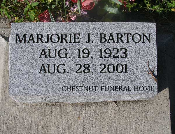Marjorie J. Barton Gravestone Photo
