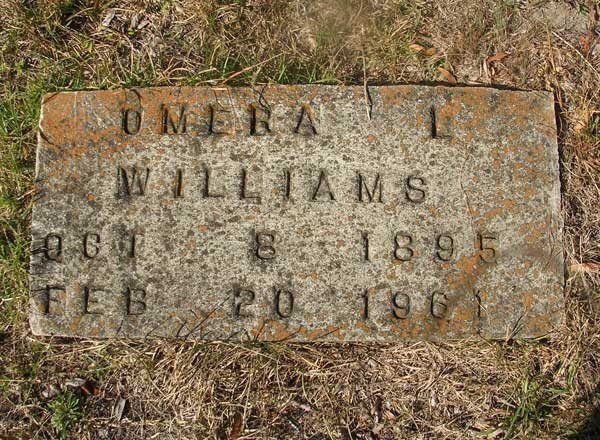 Omera L. Williams Gravestone Photo