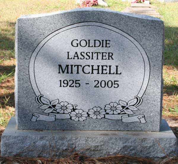 Goldie Lassiter Mitchell Gravestone Photo