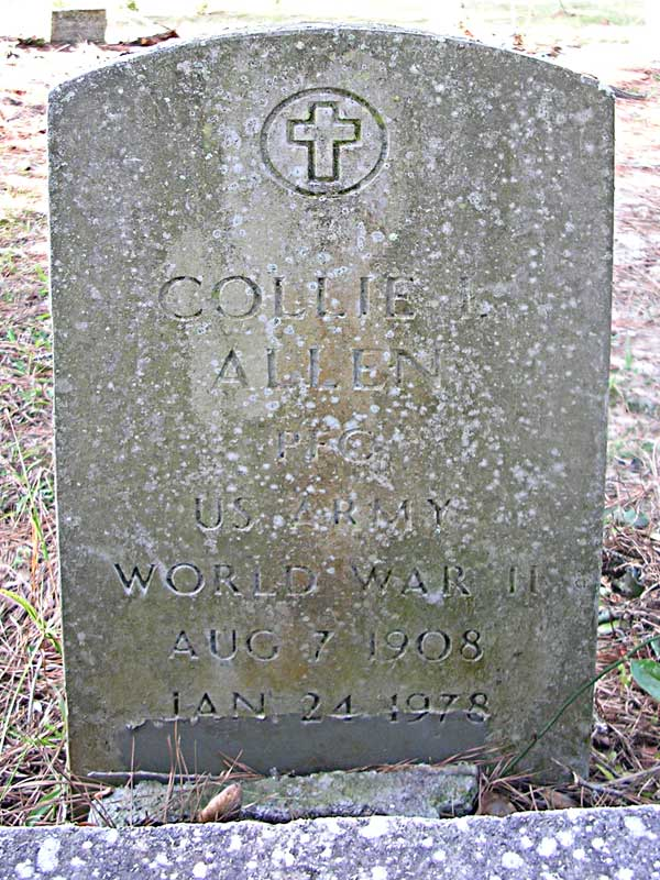 Collie L. Allen Gravestone Photo