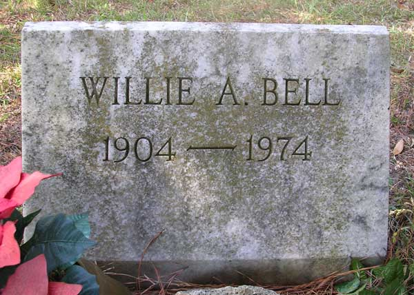 Willie A. Bell Gravestone Photo