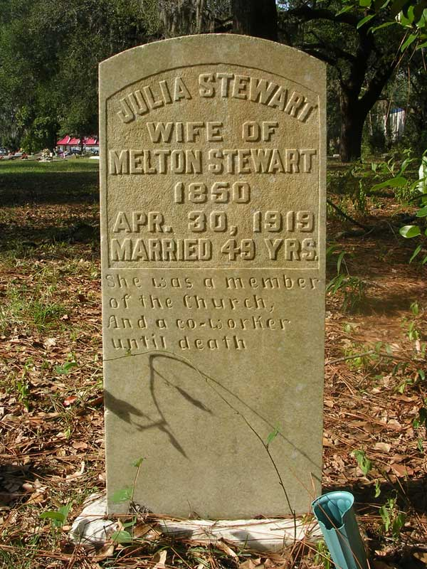 Julia Stewart Gravestone Photo