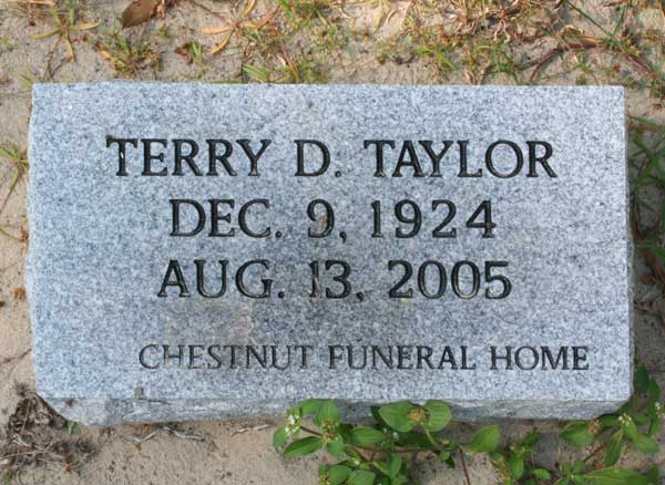 Terry D. Taylor Gravestone Photo