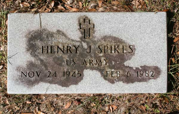 Henry J. Spikes Gravestone Photo