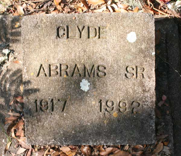 Clyde Abrams Gravestone Photo