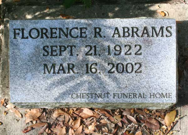 Florence R. Abrams Gravestone Photo