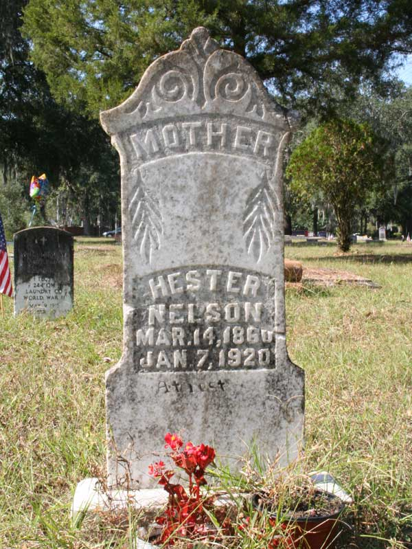 Hester Nelson Gravestone Photo