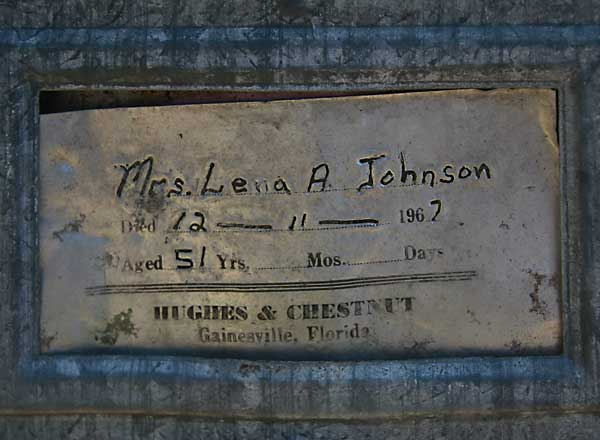 Lena A Johnson Gravestone Photo