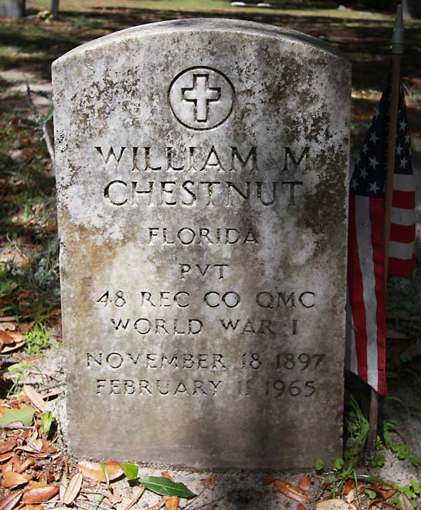 William M. Chestnut Gravestone Photo