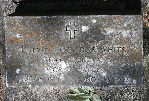 Calvin Coolidge White Gravestone Photo