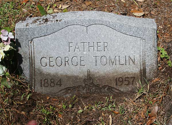 George Tomlin Gravestone Photo