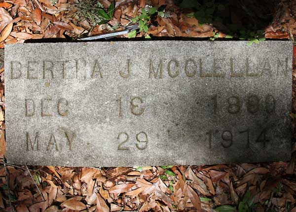 Bertha J. McClellan Gravestone Photo