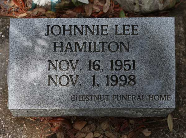 Johnnie Lee Hamilton Gravestone Photo
