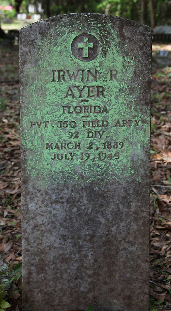 Irwin R. Ayer Gravestone Photo
